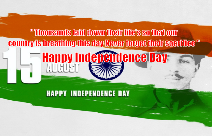 Happy Independence Day to all Indian's