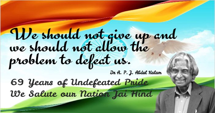 69th Independence Day Greetings To all Indian