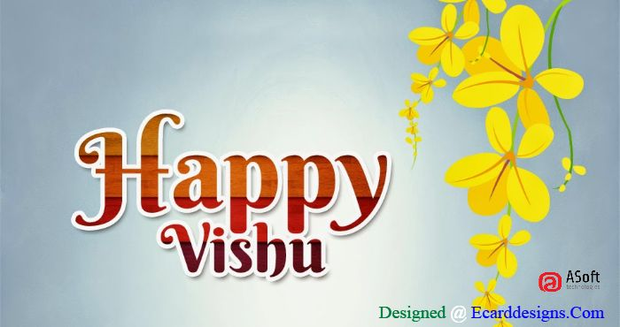 Wishing you a new year, bursting with joy, roaring with laughter and full of fun. Happy Vishu...